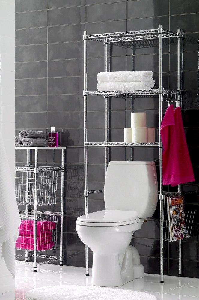 Tråd reol til badeværelse.