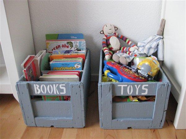 kasser til legetøj