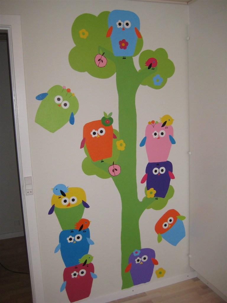 Male billede på børneværelsets væg side 2