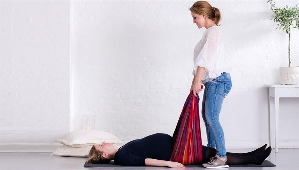 Rebozo: 4 øvelser for gravide