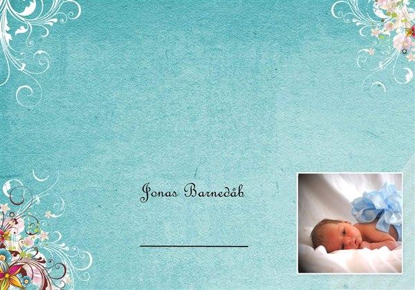 Inspiration til bordkort til barnedåb gerne billeder