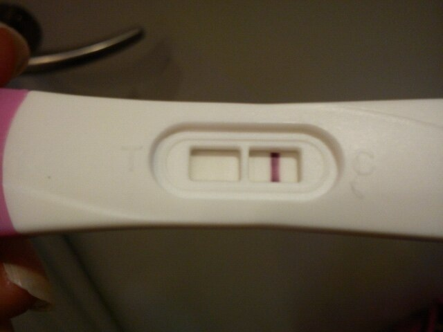 negativ test men gravid