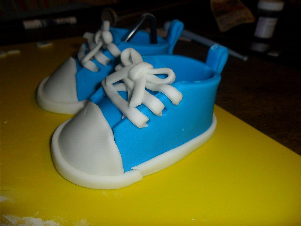 Mine første fondant-sko :)