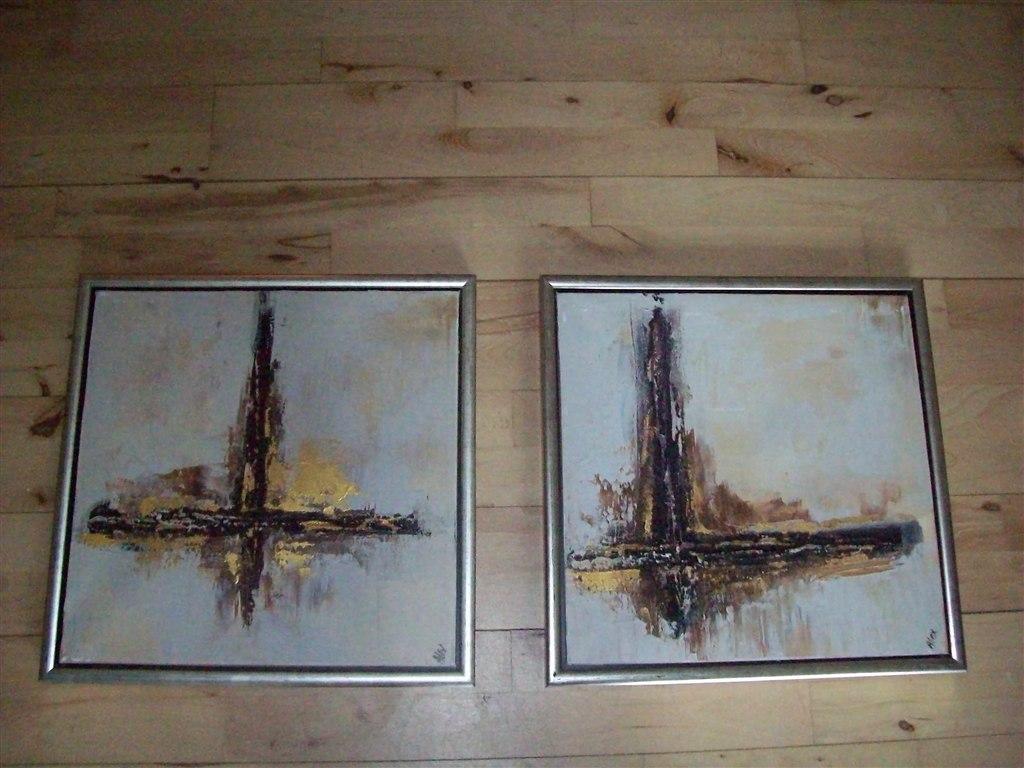 2X Malerier til stuen....
