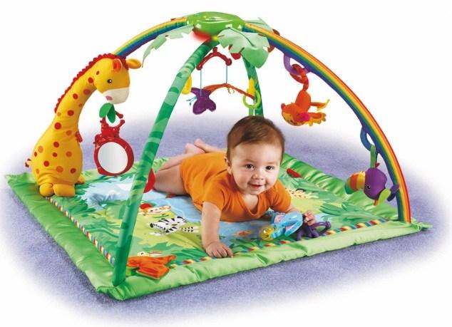 Rørig Rainforest legetæppe og Skråstol fra Fisher Price OD-13