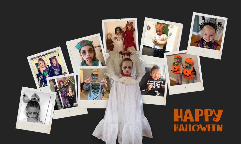 Skeletter, zombier og runde græskar: Sådan så jeres børn ud til Halloween