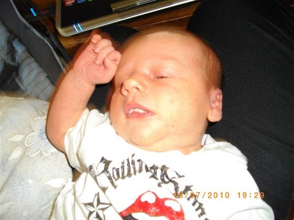 baby svamp på tungen